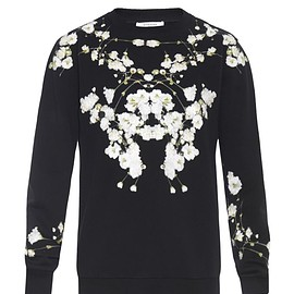 GIVENCHY - SS2015 Columbian-fit floral-print fleece sweatshirt