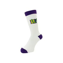 WHIMSY - 32/1 POISON SOCKS WHITE