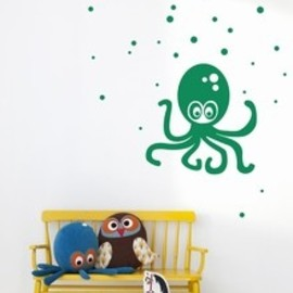 octopus AND owl キュート蛸壁紙