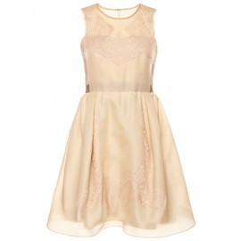 CARVEN - SILK ORGANZA DRESS WITH LACE