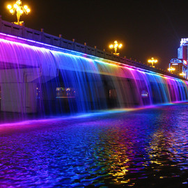 Banpo Bridge,Seoul - Rainbow Fountain