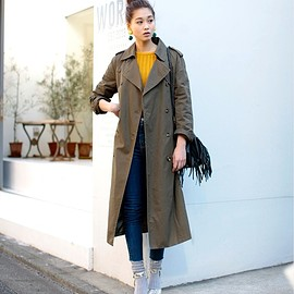 SLY - 【SLY】ANNIE TRENCH LONG COAT:カラーBEG