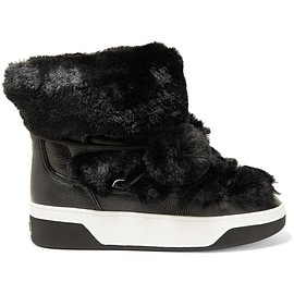 MICHAEL Michael Kors - Nala textured-leather and faux-fur boots