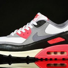NIKE - NIKE AIR MAX 90 VINTAGE SAIL/COOL GREY-MEDIUM GREY-INFRARED