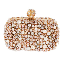 Glory skull 3D flower clutch