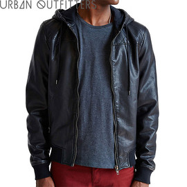 urban outfitters - URBANOUTFITTERSアーバンアウトフィッターズTheNarrowsLightweightFaux-LeatherQuiltedHoodedJacketフェイクレザー
