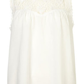 TOPSHOP/TOPMAN - Sleeveless Lace Sweetheart Top