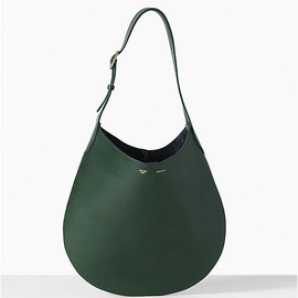 CELINE - HOBO IN CALFSKIN DARK GREEN