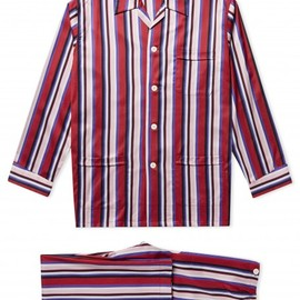 Lingfield Striped Cotton Pyjama Set