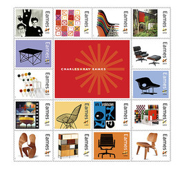 USPS - Charles and Ray Eames Stamps for 2008