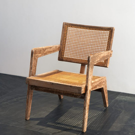 Pierre Jeanneret - Armchair, ca 1955, Teak wood and canework