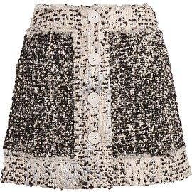 Christopher Kane - Metallic bouclé-tweed mini skirt