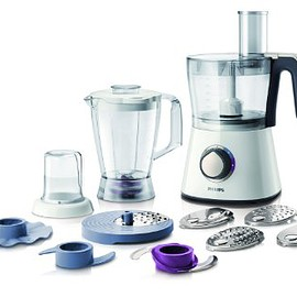 Philips - HR7761/01 750 W Kitchen Food Processor with 2.1 L Bowl and Accessories for + 28 Functions