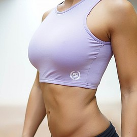 body engineers - crop top purploe front
