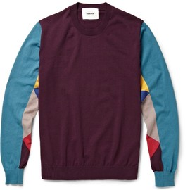 UNDERCOVER - UndercoverPanelled Cotton-Jersey Sweater|MR PORTER
