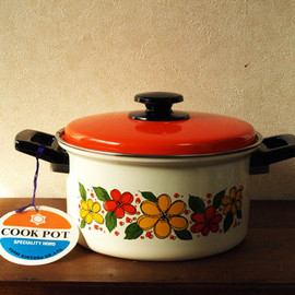 COOK POT ホーロー両手鍋