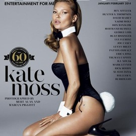 PLAY BOY - PLAYBOY magazine  60th anniversary issue, featuring Kate Moss.