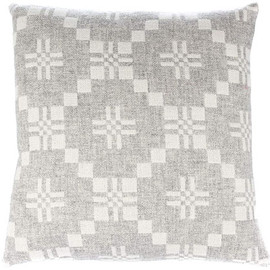 "Melin Tregwynt - cushion cover ""St David's Cross"" silver&gray"
