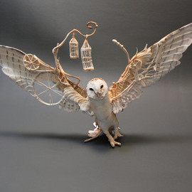 creaturesfromel - Barn Owl with Mechanics