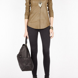 Helmut Lang - Calf Leather Shirt by Helmut Lang