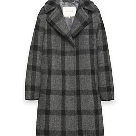 MACKINTOSH - wool coat with Napoleonic collar