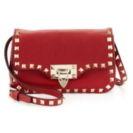 VALENTINO - Studded Mini Crossbody Bag, Red