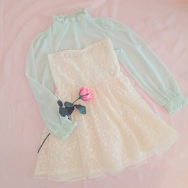 Girly Rose - Mint Green Blouse
