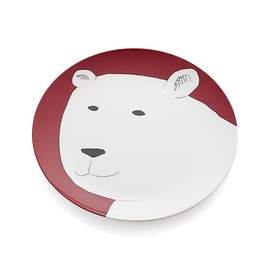 "Crate and Barrel - Polar Bear 9"" Melamine Plate"