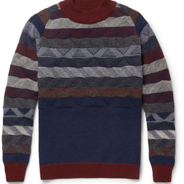 White Mountaineering - Patterned Knitted-Wool Sweater