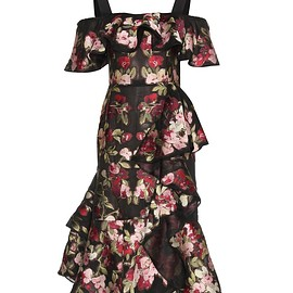 Alexander McQueen - Resort 2016 Chiffon jacquard dress