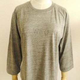 OMIYAGE by POURTON DE MOI - HE WHO ME BASE BALL TEE  ヴィンテージヘザー