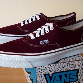 VANS - 80's AUTHENTIC BURGUNDY (made in usa)