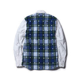 uniform experiment - BACK PANEL SQUARE DOT CHECK OXFORD B.D SHIRT