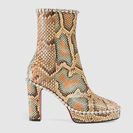 GUCCI - FW2017 Python ankle boot with crystals