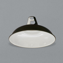 LABOUR AND WAIT - Enamel Lampshade Black