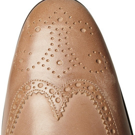 Dolce & Gabbana Worn Leather Wingtip Brogues