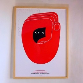 Geoff McFetridge - Heath Ceramics Exhibition Poster Frame