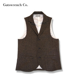 Gutswrench - AntiqueTweed 3B Lapeled Vest