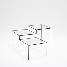 nendo - thin black table