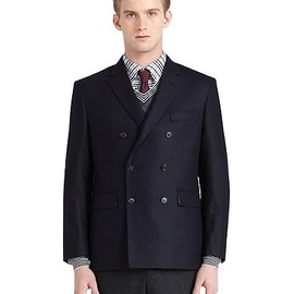 BLACK FLEECE BY Brooks Brothers - Flannel Double-Breasted Jacket