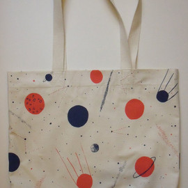 caitlin hinshelwood - Planets Screen Print Space Bag