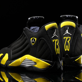 Nike - NIKE AIR JORDAN 14 RETRO BLACK/VIBRANT YELLOW-WHITE