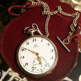 オメガ - 1950's Vintage pocket watch sterling silver.
