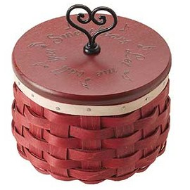 Longaberger - 2012 Sweetheart Love Songs Basket Set w/WoodCrafts Lid