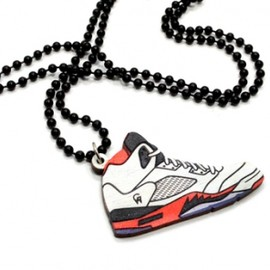 Good Wood NYC - Fire Red Sneaker Necklace