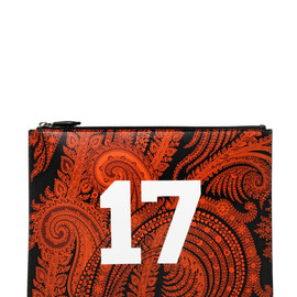 """GIVENCHY - LARGE PAISLEY & """"17"""" LEATHER POUCH"""