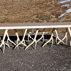 StudioLiscious - Modern Wood Bench - 'ROOTSY' series, contemporary design, nature inspired