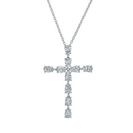 HARRY WINSTON - Pear-shaped Cross Pendant