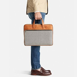 JACK SPADE - Oxford Leather Bartlett Brief