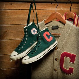 CONVERSE - CONVERSE ALL STAR LETTERED-CARDIGAN HI GREEN